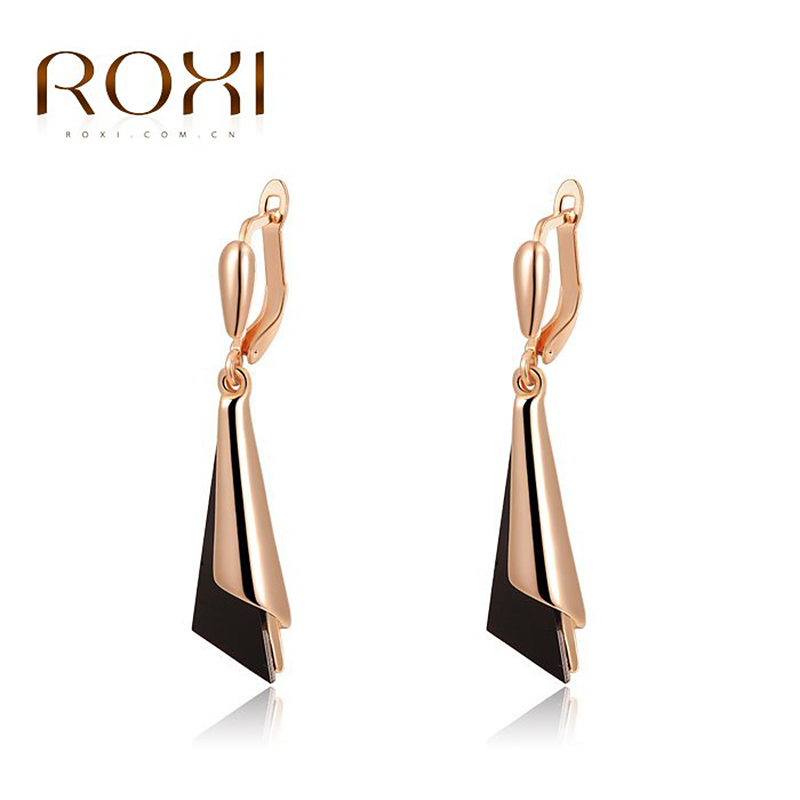 ROXI Christmas Gift High Quality New product Triangle Earrings Fashion Jewelry Best Gift For Party Wedding Free shipping(China (Mainland))