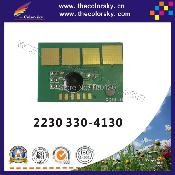 (TY-D2230) compatible reset laser printer toner chip chipset for Dell 2230 330-4130 3304130 bk 3.5k pages free shipping by DHL(China (Mainland))