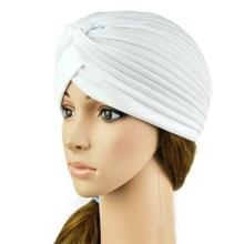 Stretchy Turban Head Wrap Band Sleep Hat Chemo Bandana Hijab Pleated Indian Cap(China (Mainland))
