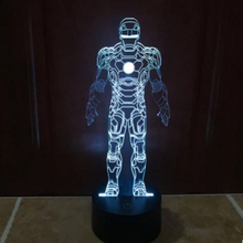 2016 new arrival novelty  power station Iron Man 2-3D touch LED night lights home table lamp Nightlight for Child Gift(China (Mainland))