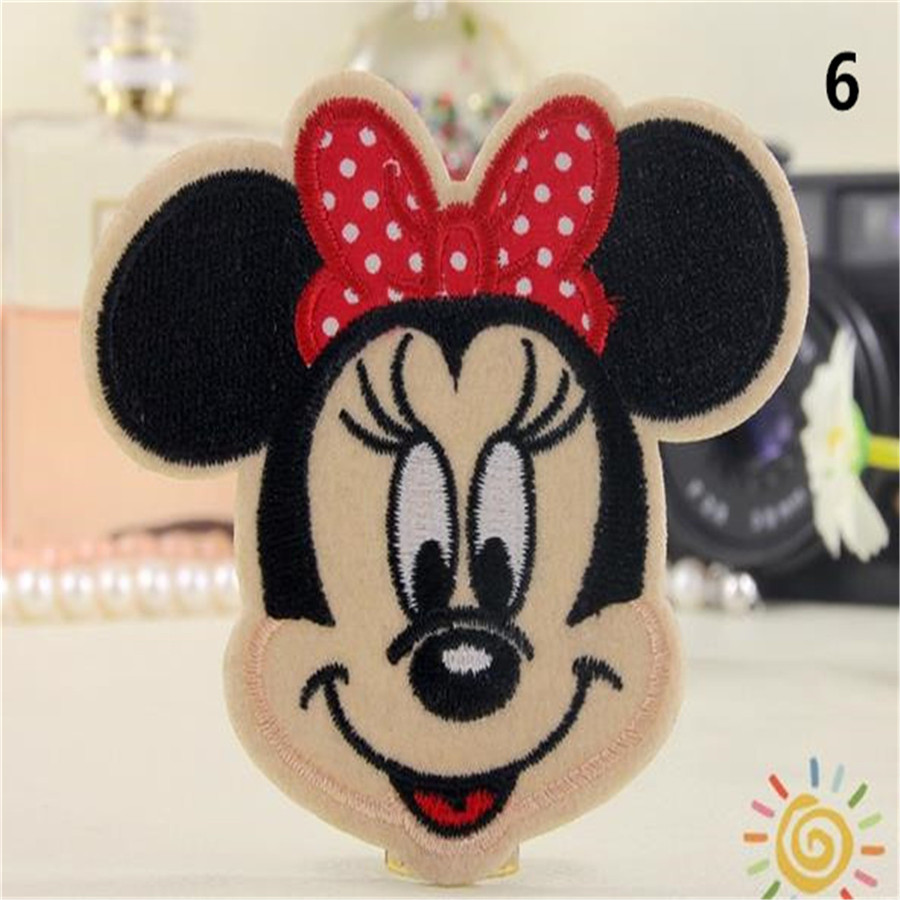 Free shipping Kids clothes Cartoon mouse Minnie logo embroidery patch fashion iron on patches for clothing fabric DIY(China (Mainland))