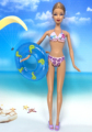 NK Doll Swimwear Seaside Bathing Garments Swimsuit+Slippers+ Swimming Buoy Lifebelt Ring For Barbie Doll Greatest Lady' Present 007B