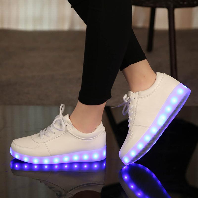Size 25-45 USB Charging Tenis Led Feminino Basket Led Light Up Trainers Kids Boy Girl Luminous Led Sneakers Child Glowing Shoes