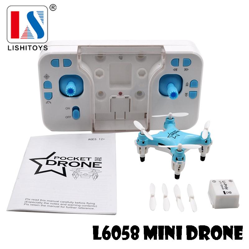 Newest Lishi L6058 2.4G Tiny Mini Quadcopter Remote Control Pocket Drone Rc Helicopter toys vs JJRC H8Mini Free Shipping(Hong Kong)