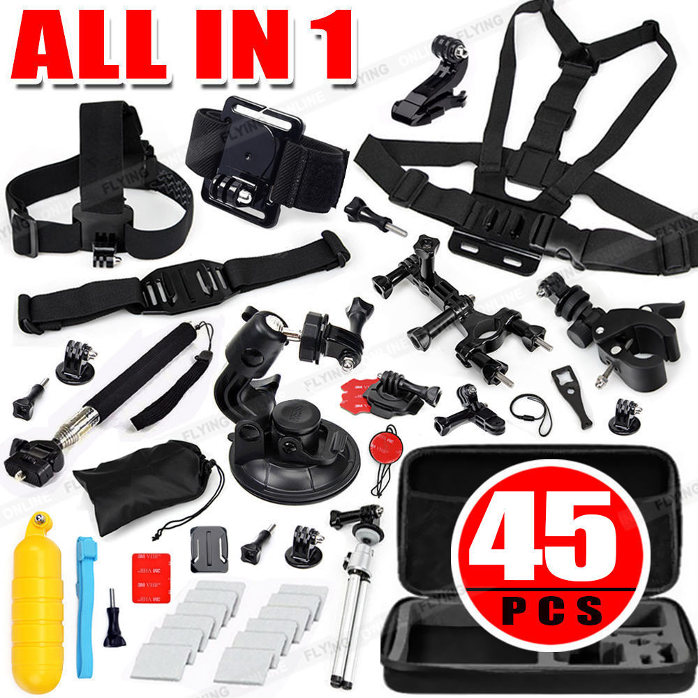 Accessories Pack Case Chest Head Monopod Bike Surf Mount for GoPro Hero 4 3+ 3 2<br><br>Aliexpress