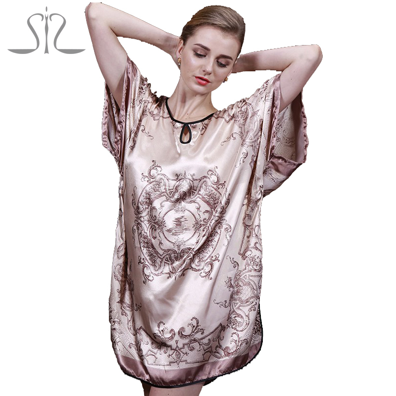 2015 New Arrival Summer Women Nightwear For Home Suit Ladies Pyjamas Satin Floral Casual Women Nightgown Women Bathrobe 10000(China (Mainland))