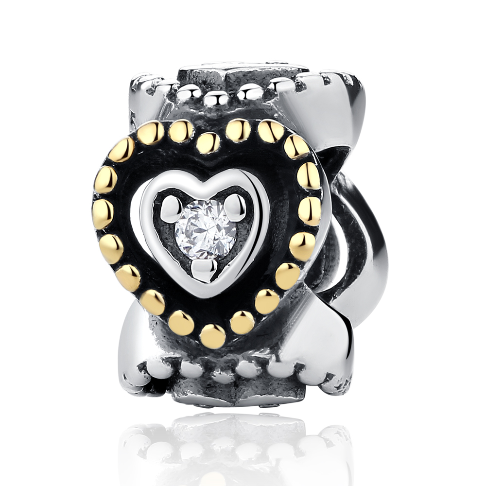 Authentic 925 Sterling Silver Beads Celebration of Love Spacer DIY Charms Fit Pandora Bracelets & Bangles Gift Jewelry(China (Mainland))