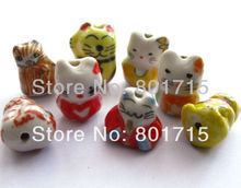 50pcs mix style hello kitty Porcelain Beads Spacer Finding 17*14mm Handcrafted Ceramic Porcelain Beads(China (Mainland))