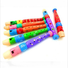 Toy Musical Instrument New Designed Plastic Kid Piccolo Flute Musical Instrument Early Learning Educational Toy for Children(China (Mainland))