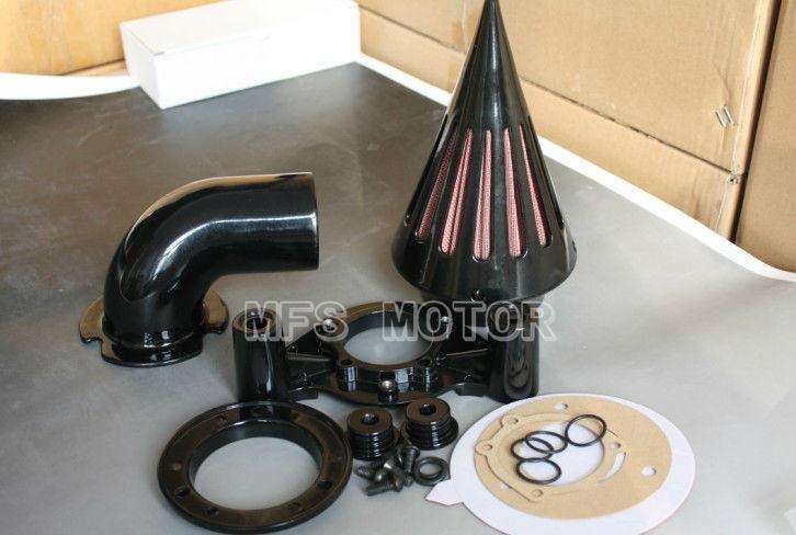 мотоцикл разделяет Спайк воздухоочиститель фильтр для Harley Дэвидсон 2008-2012 универсал FLHTC Стрит Глайд черный