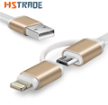 Newest Colorful Micro USB Cable 2 in 1 Sync Data Charging USB Cable for iPhone 5