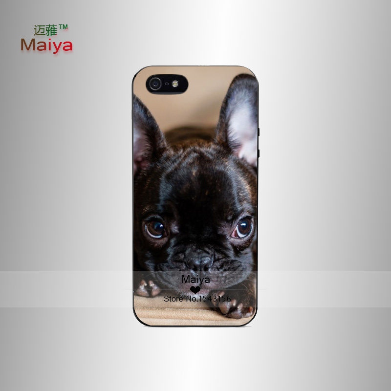 french bulldog fashion cover Personalized Emboss UV Print Hard Phone Cases Skin Shell For iPhone5 5S Back Cover Bags(China (Mainland))