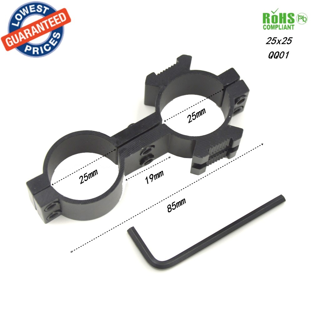 25X25 Tactical High Profile 25mm Scope mount Rings Weaver Picatinny Rail Mount For Rifle Picatinny for Flashlight rifle scope