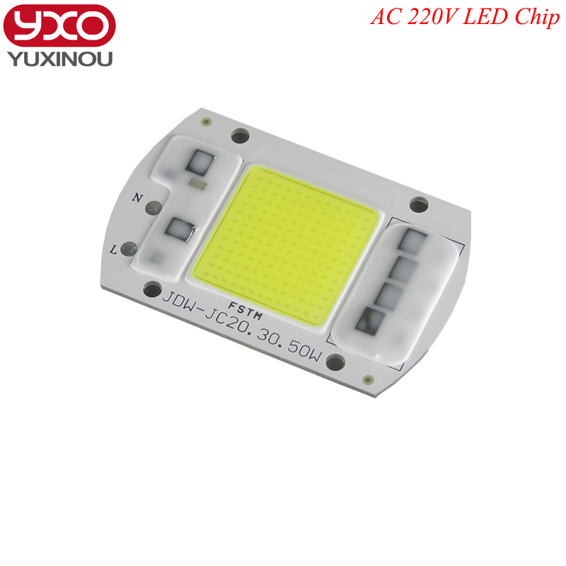 SMD COB Spotlight AC 220V Led Bulb Chip Beans Smart IC 20W 30W 50W Energy Saving Outdoor Lamp White / Warm Supper Bright Light