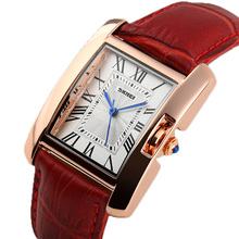 NEW ARRIVAL Ladies Watch Women's Dress Wrist Watches Fashion Casual Quartz Wristwatches Rectangle Dial Leather Strap Reloj Clock
