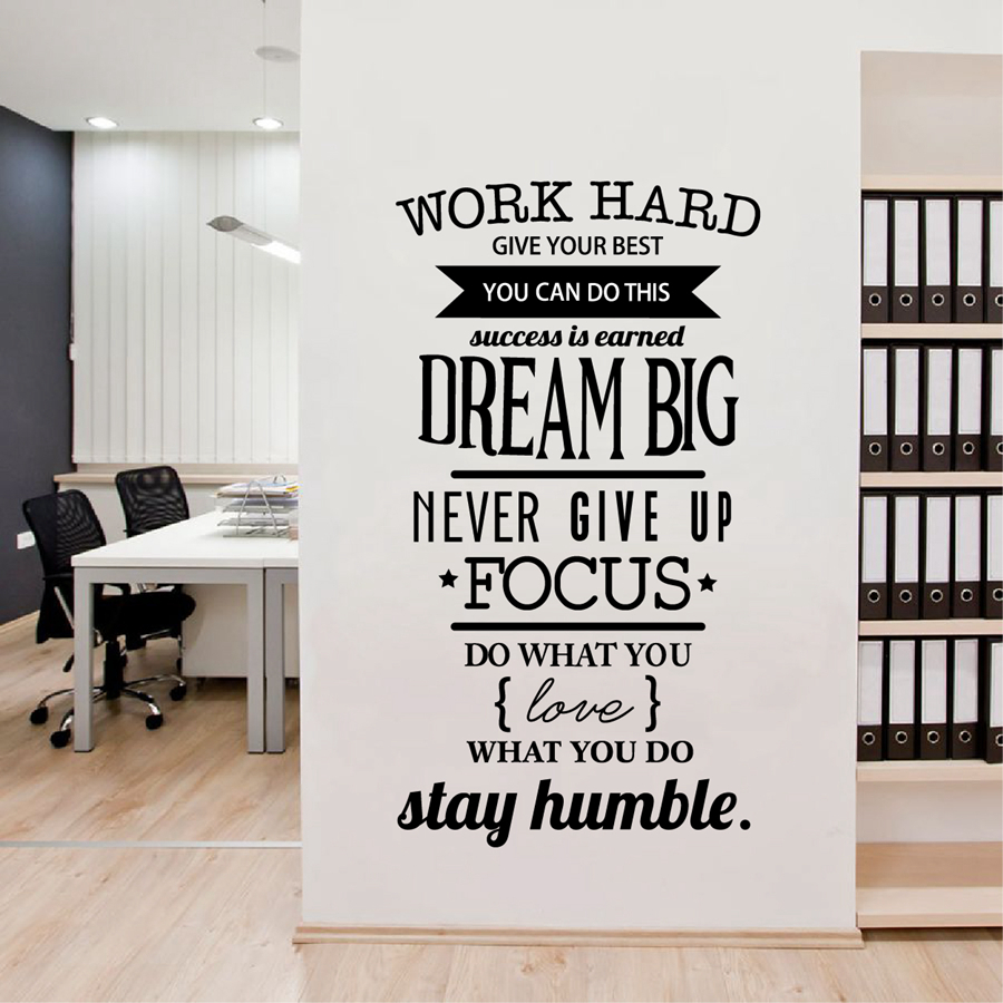 Popular wall decals quotes for office buy cheap wall for Office interior design quotes