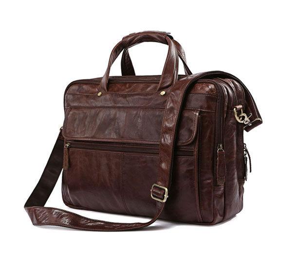 Free Shipping Hight Quality Brown 100% Genuine Leather  Men Portfolio