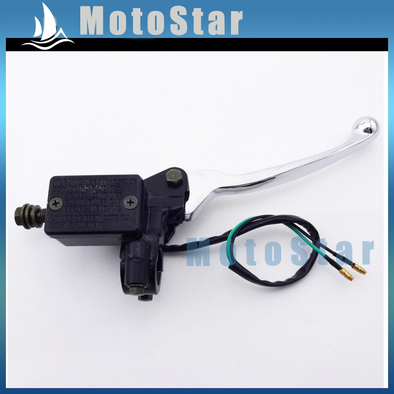 Alloy Right ATV Hydraulic Master Cylinder Handle Brake Lever Assembly For 50 90 110 125 150 cc Chinese Quad Pit Dirt Motor Bike(China (Mainland))