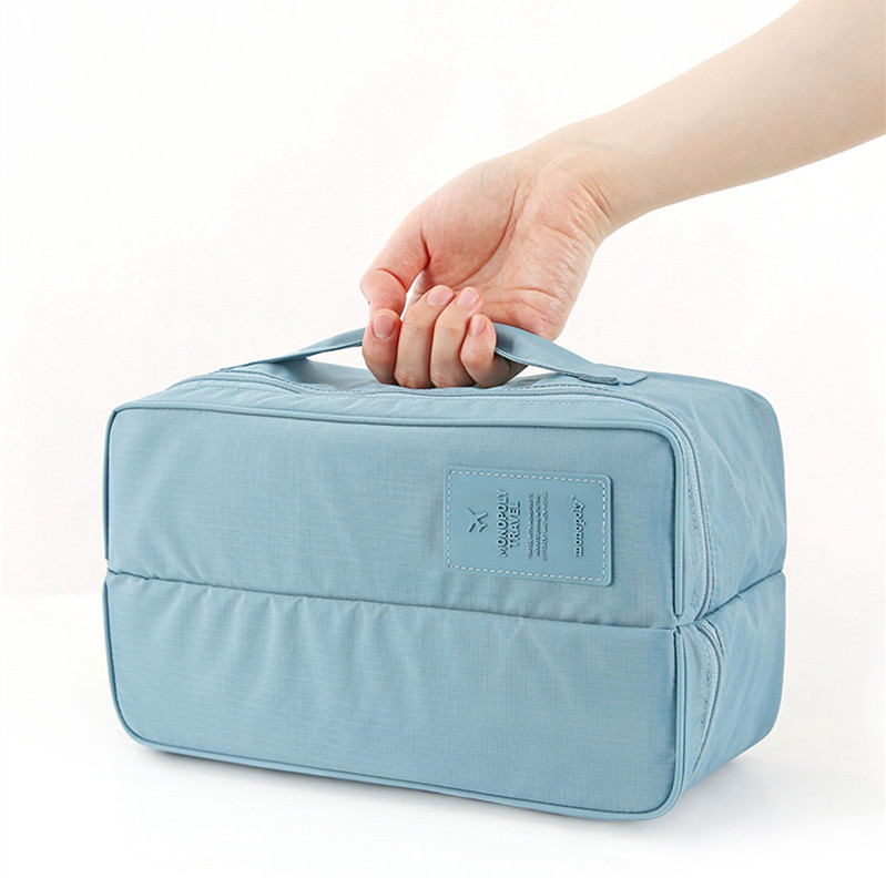 2016 New multifunctional Waterproof travel bag double open Underwear Socks storage case bra bag XQ1(China (Mainland))