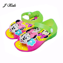 13-17cm jelly shoes girls 2016 summer new minnie baby shoes sandals PVC candy color shoes baby girls(China (Mainland))
