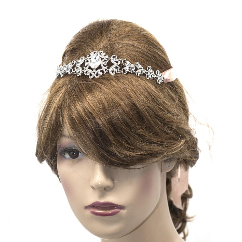 Свадебный Волосы Ювелирные Изделия Ясно Кристалл Rhinestone Головная Повязка Женщины Свадебные Прически Аксессуары E6578B