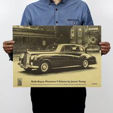Rolls-Royce / Famous Car Brand Advertising Paper / Retro Nostalgia  / Bar Decorative Painting 51x35.5cm(China (Mainland))