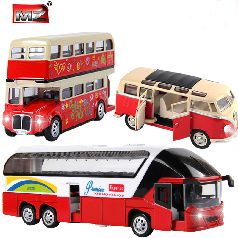 Hot 3pcs/lot 1:32 volkswagen VW Mini bus London double-decker bus New York Double Decker Sightseeing Tour Bus models(China (Mainland))
