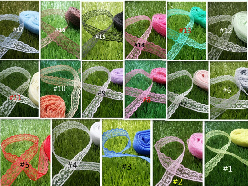 New! Free shipping 10 yards of beautiful lace ribbon, 2 cm wide, DIY Clothing / Accessories / floral accessories, etc.(China (Mainland))
