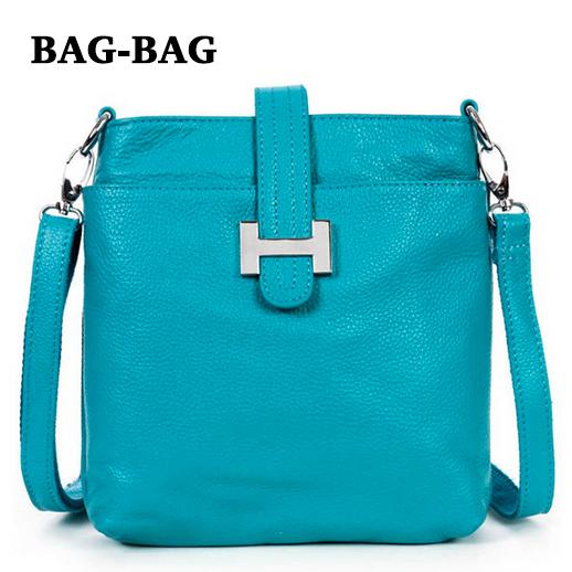 Genuine leather Women Messenger bags Retro/vintage Brand designer REAL skin shoulder bag crossbody girls S009 - BAG-BAG store