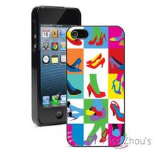 Shoes Pop Art Style High Heels back skins mobile cellphone cases for iphone 4/4s 5/5s 5c SE 6/6s plus ipod touch 4/5/6