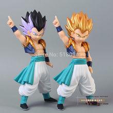 2pcs/lot Free Shipping Anime Dragon Ball Z Gotenks PVC Action Figure Collection Model Toy 9″ 23cm