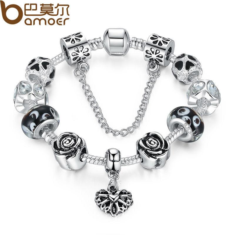 Fashion 925 Silver Flower Charm bracelet for Women DIY Beads Jewelry Fit Original pandora Bracelets Pulseira Gfit PA1435(China (Mainland))