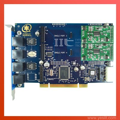 TDM410P 4 Ports with 2FXS modules  Asterisk card for VoIP IP PBX