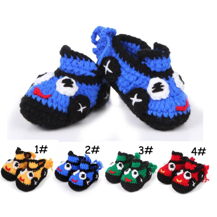 Hot 2014 Acrylick+Wool handmade baby shoes cartoon animation inside 11cm baby's boys first walkers free shipping(China (Mainland))