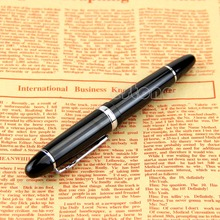 Buy 1PC Fountain Pen Black Silver M Nib Fountain Pen Thick for $4.06 in AliExpress store