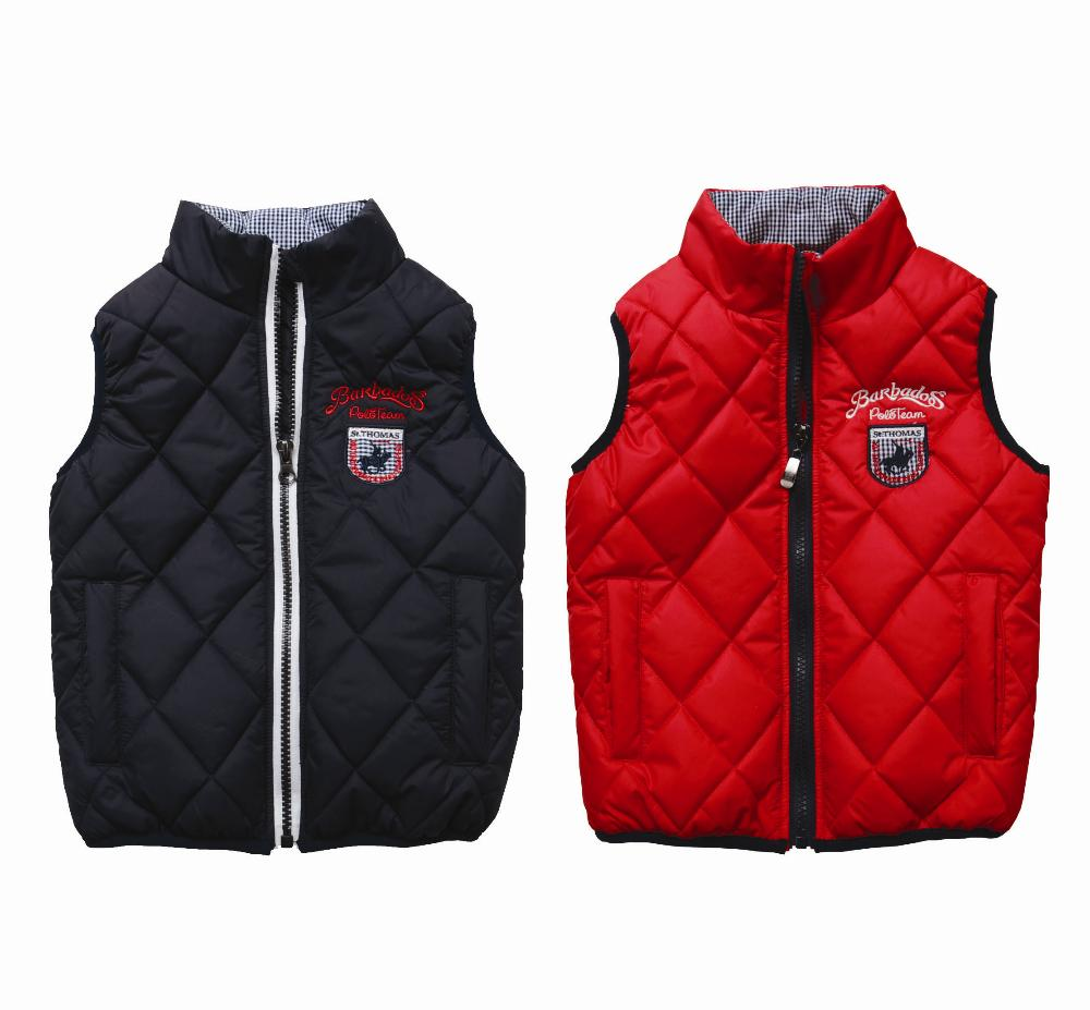 hot sale waistcoat for boys vests kids autumn/winter vest boys red stand-collar vest kids waistcoats children's clothing(China (Mainland))