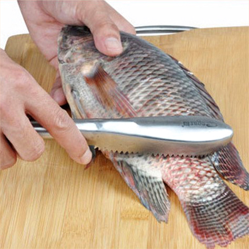 stainless cleaning fish skin remove scales fish