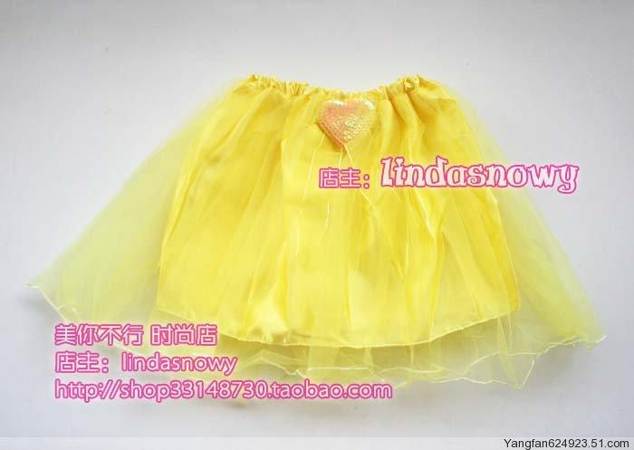 Props dance clothes flower girl props child princess puff skirt dress gauze skirt yellow