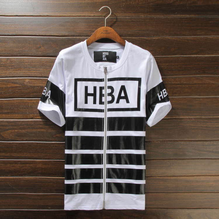 HBA Street men oversized extended t shirt casual tyga hip hop swag urban clothing pyrex black star skateboard tee kanye west - ifashion Shopping Mall store