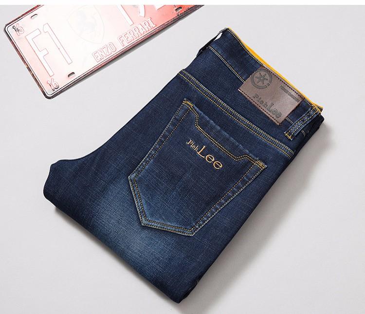 PADAUNGY Fleece Mens Jeans Thickeness Jeggings Autumn Winter Denim Pants Slim Fit Hip Hop Trousers Pantalones Vaqueros Hombre