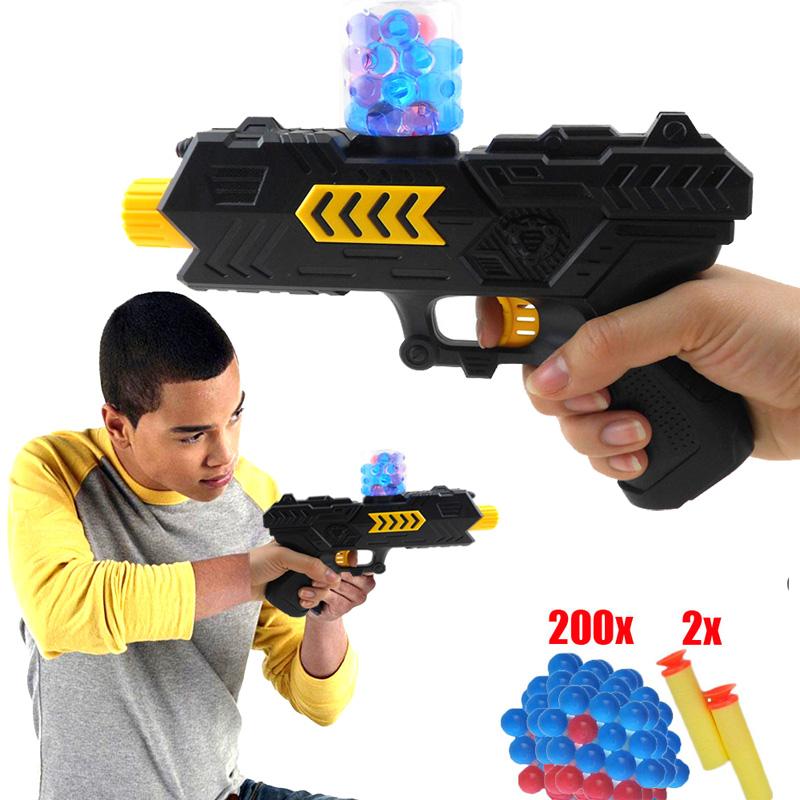 2in1 Water Soft Nerf Gun Bullet Pistol Crystal Darts Pistol Bullets Kids Toy Set Pistola De Airsoft Metal Air Rifles Nerf Arma(China (Mainland))