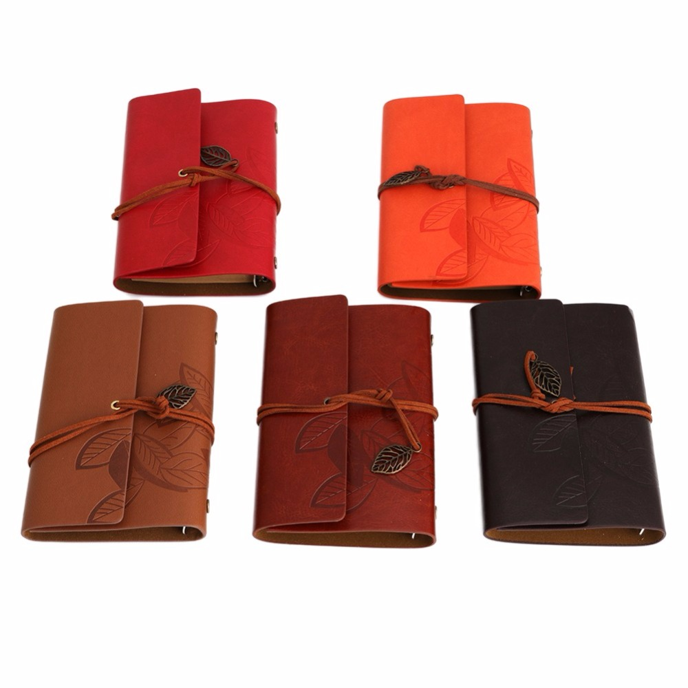 Vintage Notebook Diary String Leaf Travel Leather Paper Journal Book Sketchbook(China (Mainland))