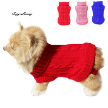 Buy 1 PC Pet Clothes Small Dog Pet Dog Cat Clothes Winter Warm Sweater Knitwear Dogs Puppy Coat Apparel Winter D19 for $2.06 in AliExpress store