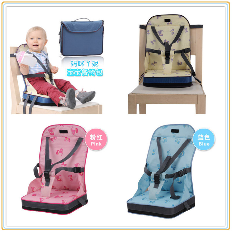 Multi-function Highchair Booster Seat High-grade Sponge Sereotypes Infant Seat for Feeding Pink/Blue/Beige Color Available(China (Mainland))