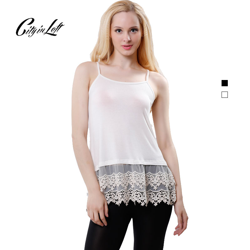 2016 New Fashion Women Lace Edge Top Summer Sexy Sleeveless Casual Tees Custom Plus Size Black White Custom Blouse Tops CIT 1043(China (Mainland))