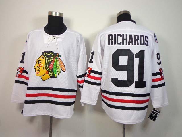 Latest styles Hot Sale/ 2015 Winter Classic Men's Ice Hockey Jerseys Chicago Blackhawks #91 Brad Richards Stitched Authentic Je(China (Mainland))