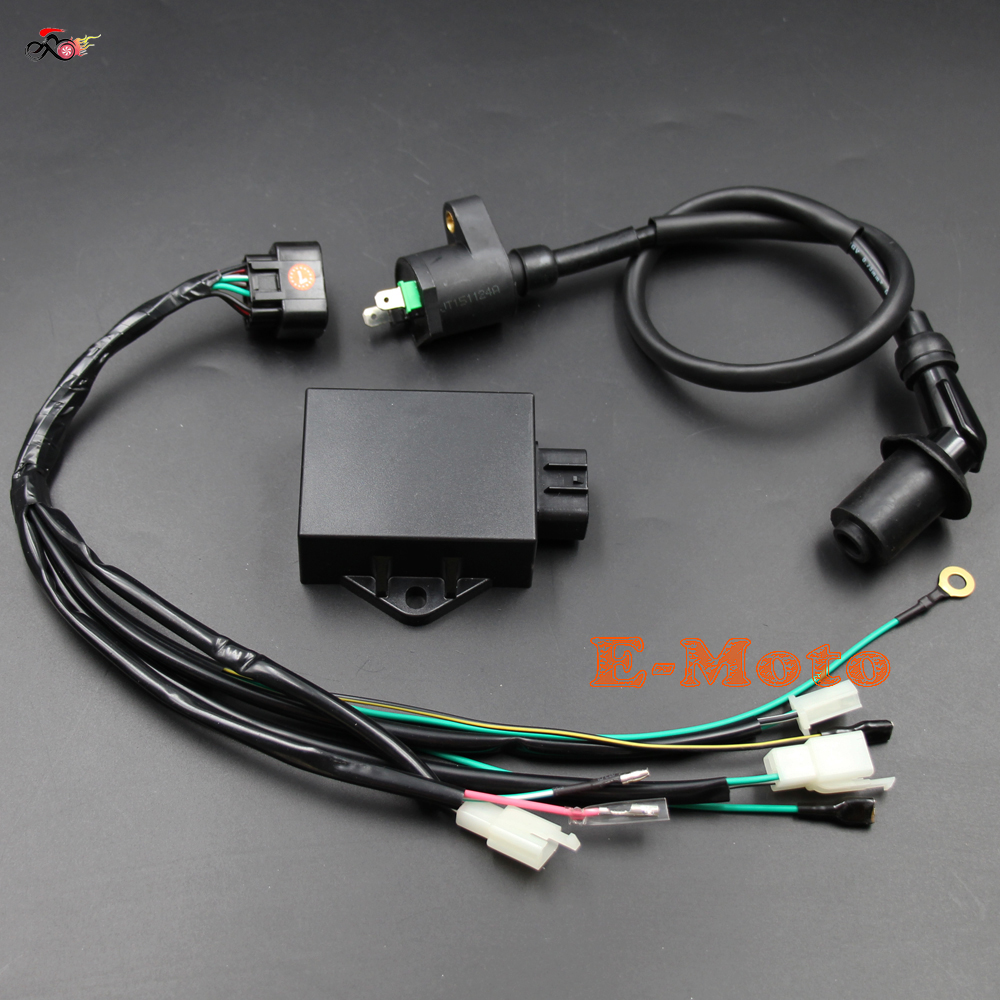high quality wiring harness cdi buy cheap wiring harness cdi lots complete wire wiring harness loom ignition coil 8 pin cdi kits for lifan w150cc zs155cc pit