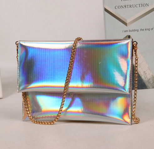 Popular Sparkle Laser Women Day Clutch Envelope bag Spangle Clutch Purse Evening Bag Lady Handbag Chain Woman Messenger Bag<br><br>Aliexpress