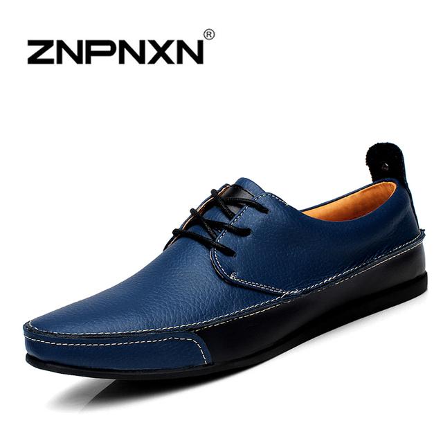 Натуральная кожа оксфорд обувь для мужчины квартиры новые 2015 мода обуви мокасины ...