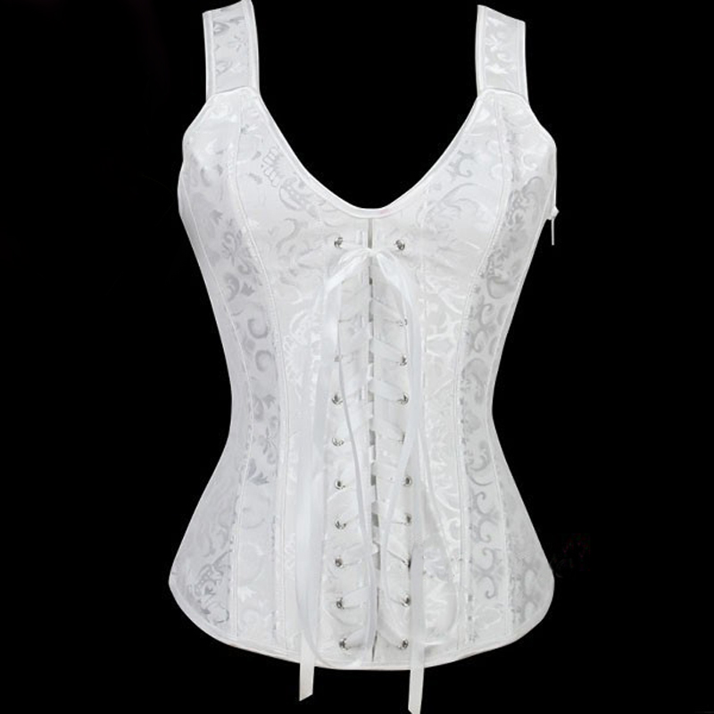 lace up thinning sexy white corset waist binder corsage corset minceur fit out girdles waist. Black Bedroom Furniture Sets. Home Design Ideas